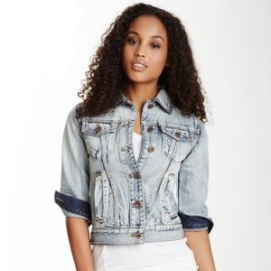 David Kahn Daphne 100% Cotton Denim Jean Jacket